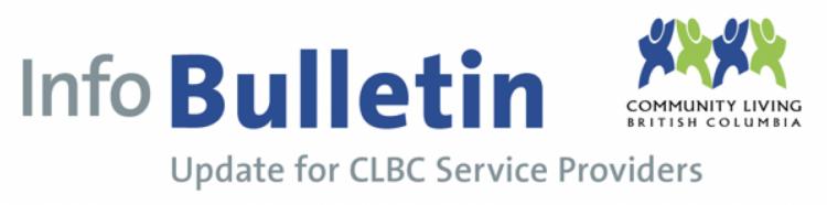 CLBC COVID-19 UPDATE FOR SERVICE PROVIDERS